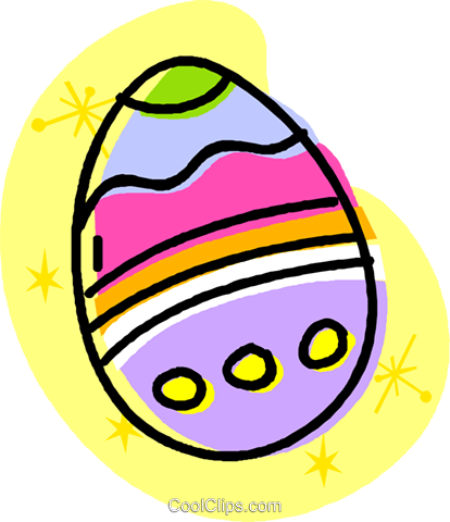 Easter egg Royalty Free Vector Clip Art illustration vc032019