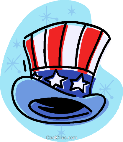 Uncle Sam's top hat Royalty Free Vector Clip Art illustration vc032021
