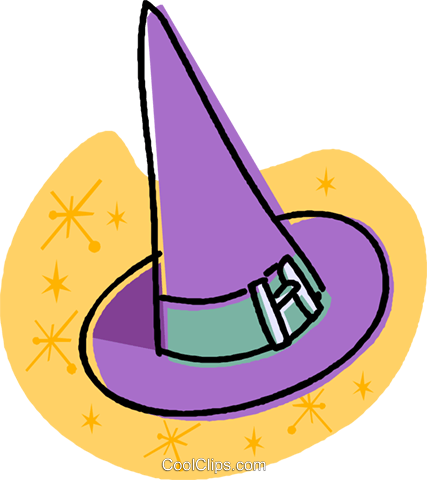 witches hat Royalty Free Vector Clip Art illustration vc032024