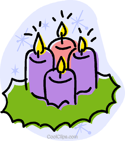 candles Royalty Free Vector Clip Art illustration vc032042