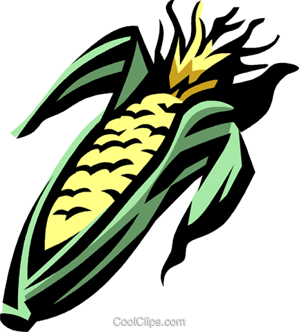 corn Royalty Free Vector Clip Art illustration vc032048