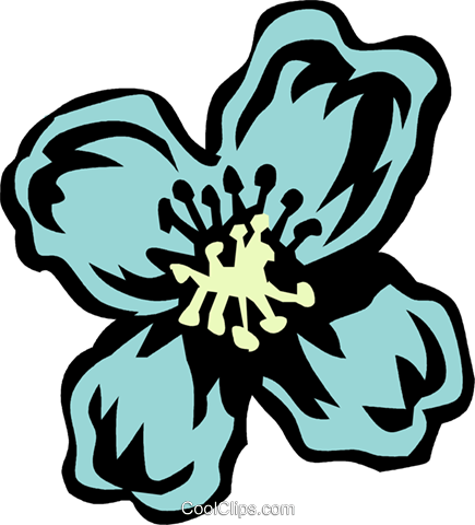 clematis Royalty Free Vector Clip Art illustration vc032071