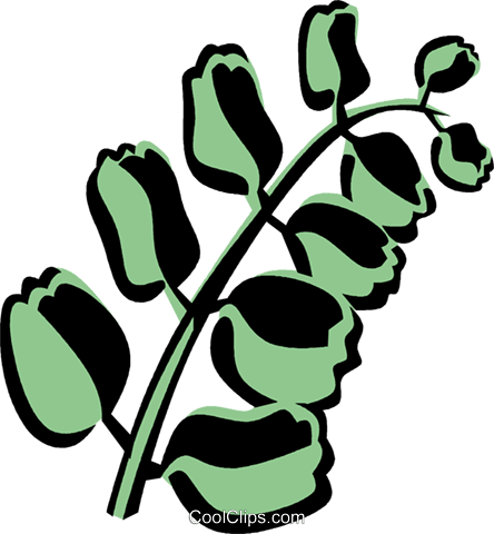 button fern Royalty Free Vector Clip Art illustration vc032109