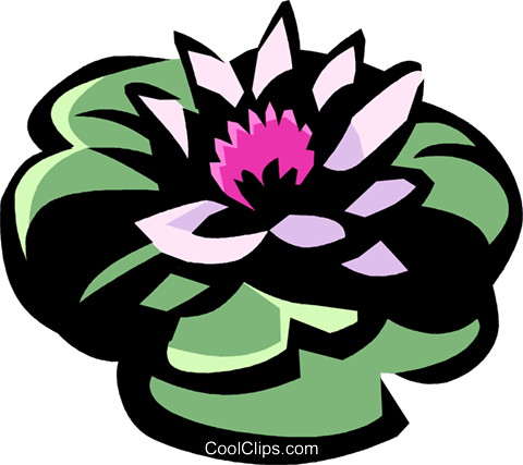 water lily Royalty Free Vector Clip Art illustration vc032119