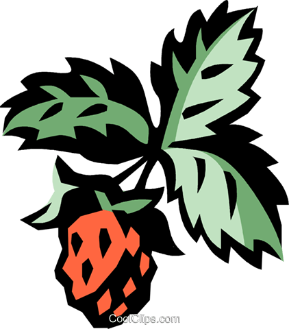 strawberries Royalty Free Vector Clip Art illustration vc032149
