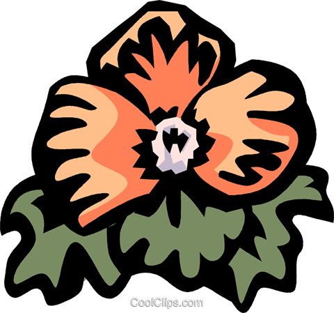 begonia Royalty Free Vector Clip Art illustration vc032158