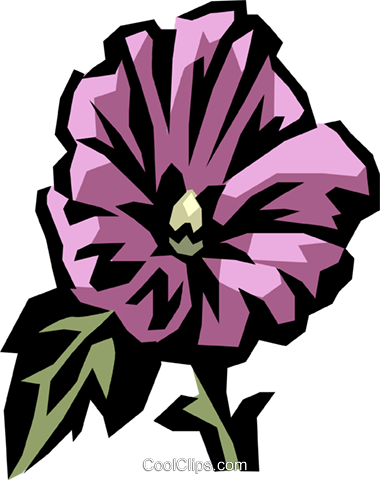 rose mallow Royalty Free Vector Clip Art illustration vc032183