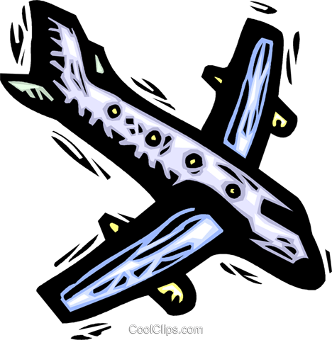 airplane Royalty Free Vector Clip Art illustration vc032186
