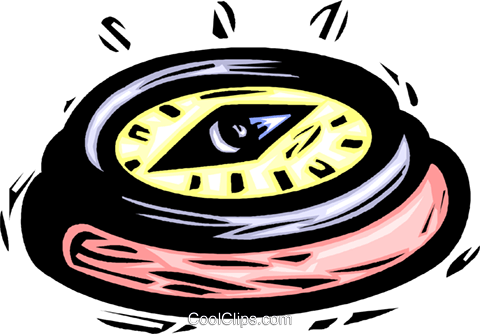 compass Royalty Free Vector Clip Art illustration vc032191