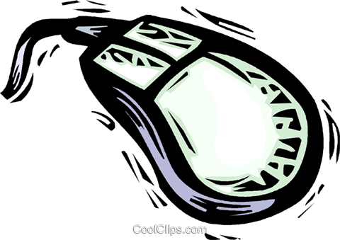 computer mouse Royalty Free Vector Clip Art illustration vc032195