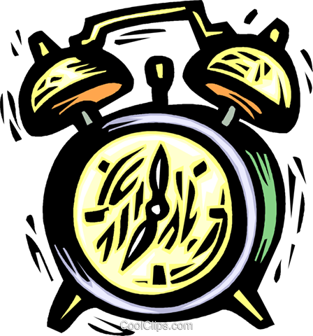 alarm clock Royalty Free Vector Clip Art illustration vc032197