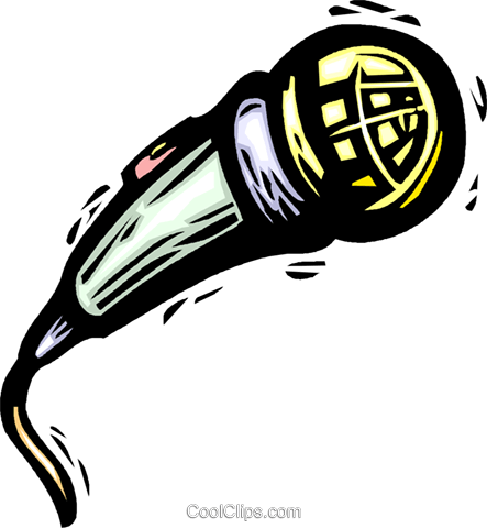 microphone Royalty Free Vector Clip Art illustration vc032200