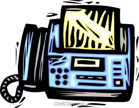 fax machine Royalty Free Vector Clip Art illustration vc032205