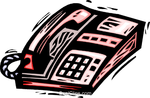 office telephone Royalty Free Vector Clip Art illustration vc032218