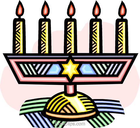 menorah Royalty Free Vector Clip Art illustration vc032227