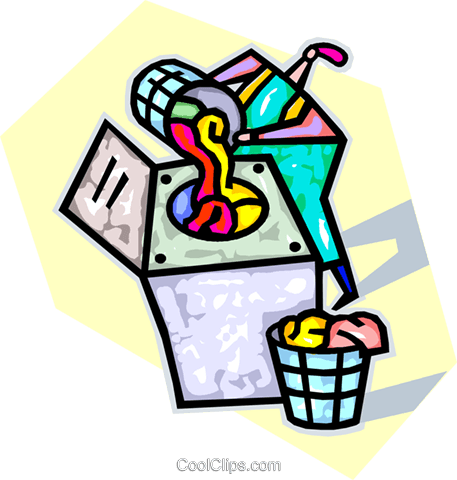 putting laundry in the laundry machine Royalty Free Vector Clip Art illustration vc032240