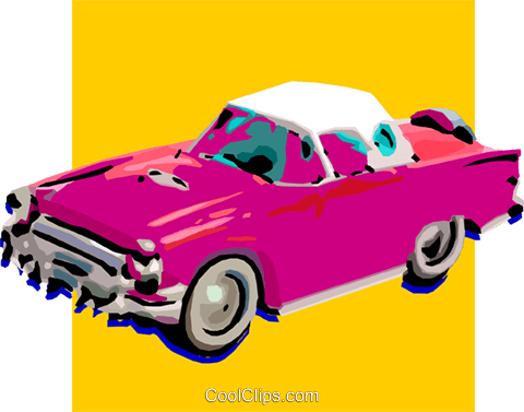 classic car Royalty Free Vector Clip Art illustration vc032249