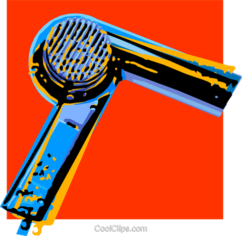 hair dryer Royalty Free Vector Clip Art illustration vc032254