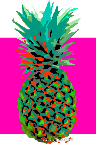 pine apple Royalty Free Vector Clip Art illustration vc032256