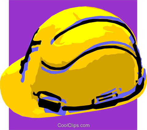 hard hat Royalty Free Vector Clip Art illustration vc032259