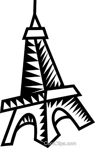 Eiffel tower Royalty Free Vector Clip Art illustration vc032269