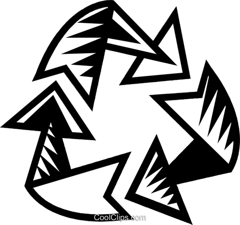 recycle symbol Royalty Free Vector Clip Art illustration vc032318