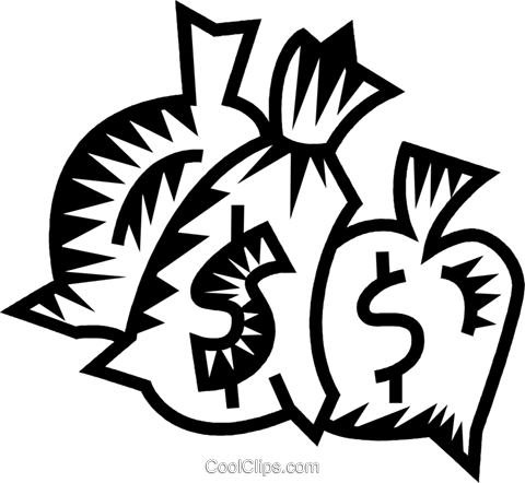money bags Royalty Free Vector Clip Art illustration vc032325