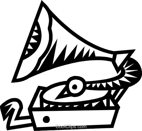 gramophone Royalty Free Vector Clip Art illustration vc032344