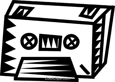 tape cassette Royalty Free Vector Clip Art illustration vc032352