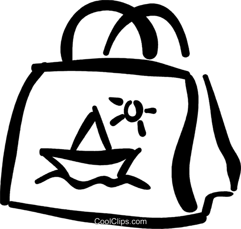 beach bag Royalty Free Vector Clip Art illustration vc032383