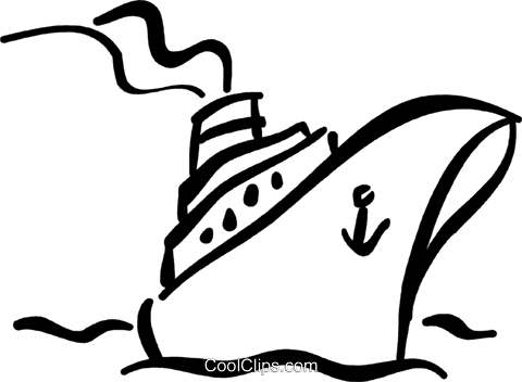 cruise ship Royalty Free Vector Clip Art illustration vc032384