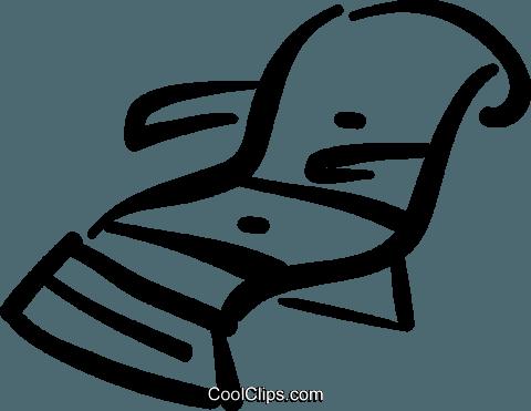 Mann und frau im liegestuhl clipart  Liegestuhl Vektor Clipart Bild -vc032390-CoolCLIPS.com