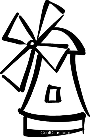 windmill Royalty Free Vector Clip Art illustration vc032392