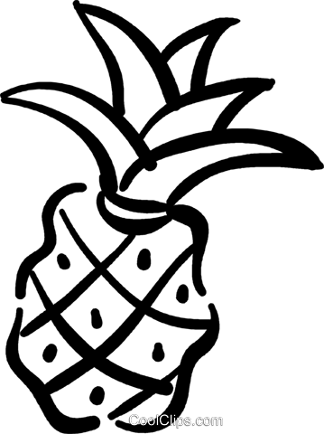 pineapple Royalty Free Vector Clip Art illustration vc032395