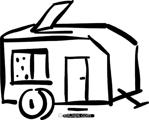 camping trailer Royalty Free Vector Clip Art illustration vc032409