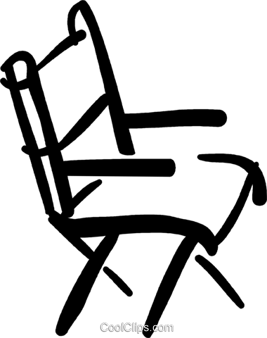 director's chair Royalty Free Vector Clip Art illustration vc032423