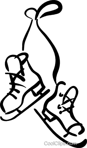 ice skates Royalty Free Vector Clip Art illustration vc032451