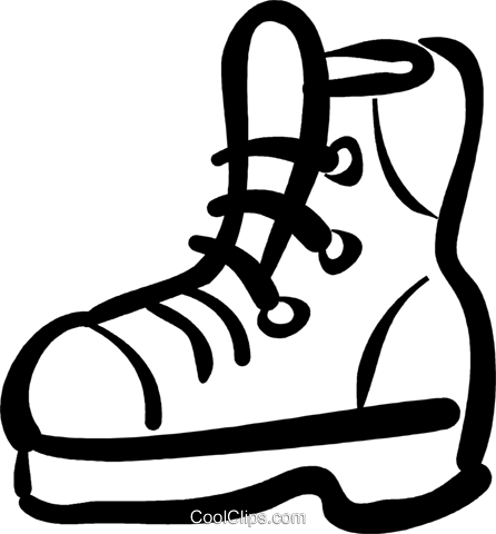 work boots Royalty Free Vector Clip Art illustration vc032474