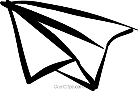 paper airplane Royalty Free Vector Clip Art illustration vc032478