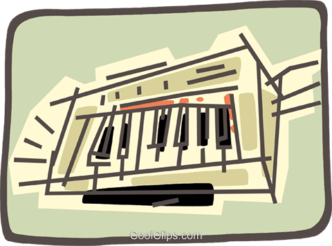piano keyboard Royalty Free Vector Clip Art illustration vc032509