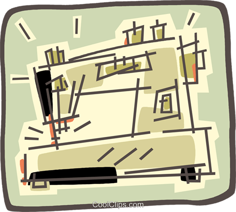 sewing machine Royalty Free Vector Clip Art illustration vc032515