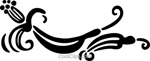 floral design Royalty Free Vector Clip Art illustration vc032542