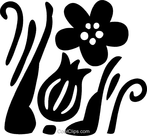 floral design Royalty Free Vector Clip Art illustration vc032575