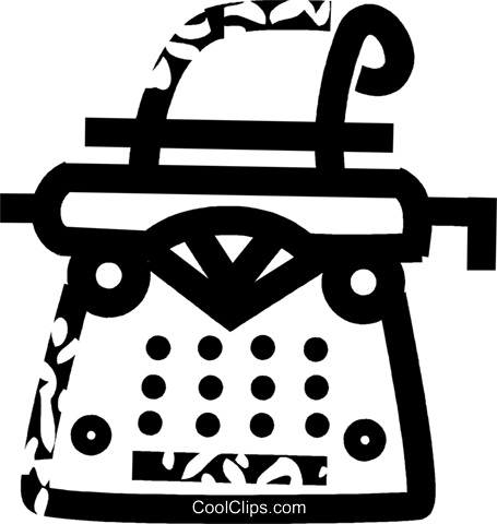 typewriter Royalty Free Vector Clip Art illustration vc032606