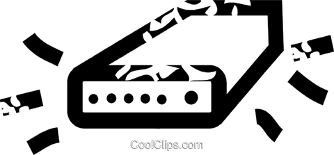 computer modem Royalty Free Vector Clip Art illustration vc032630