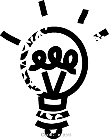 light bulb Royalty Free Vector Clip Art illustration vc032658