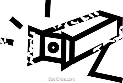 surveillance camera Royalty Free Vector Clip Art illustration vc032661