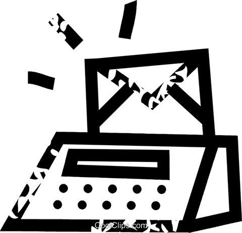 postage machine Royalty Free Vector Clip Art illustration vc032670