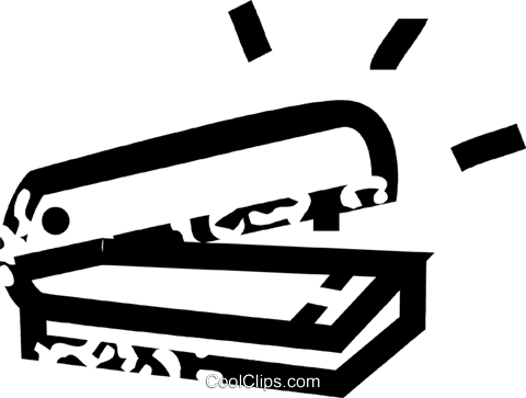 stapler Royalty Free Vector Clip Art illustration vc032703