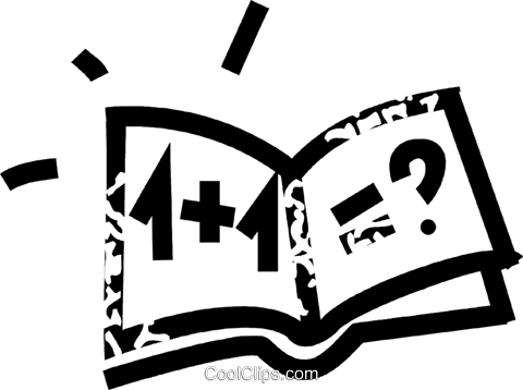 math book Royalty Free Vector Clip Art illustration vc032717